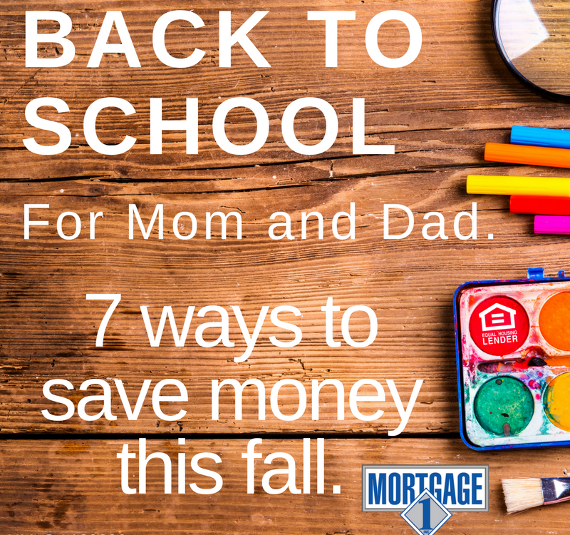 financial tips for mom and dad at back to school time.