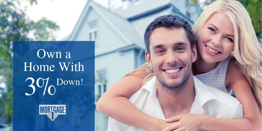 Own a home by putting only 3% down
